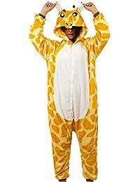 r-dessous Damen Herren Giraffe Kostüm Tier Cosplay Anime Schlafanzug Pyjama Motto Party Karneval Jumpsuit