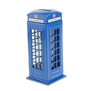 Huchas Banco de Dinero Caja de Monedas Estilo Británico Cabina Teléfono Niños de Generic
