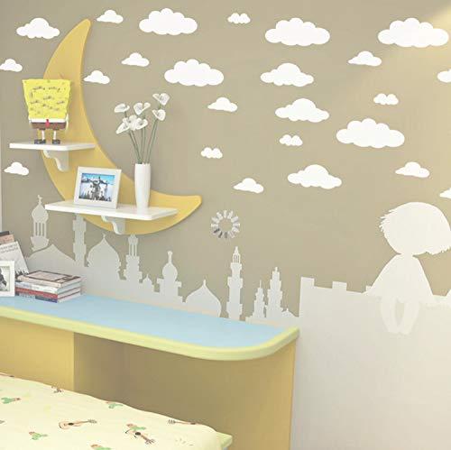 5 Zoll Vinyl Decal (Smntt DIY Große Wolken 4-10 Zoll Wandaufkleber Abnehmbare Vinyl Aufkleber Decals Für Kinderzimmer Dekoration Kunst)