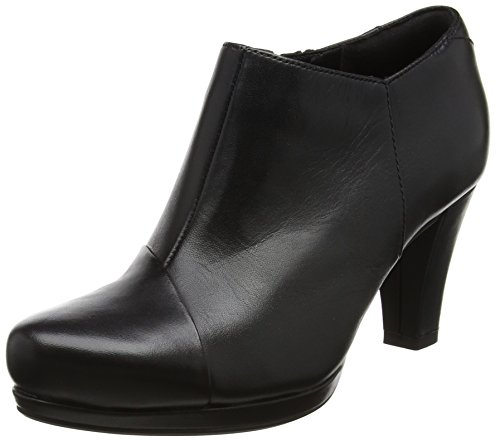 Clarks Damen Chorus Jingle Stiefel, Schwarz (Black Leather), 39.5 EU (Schuhe Boots Ankle)