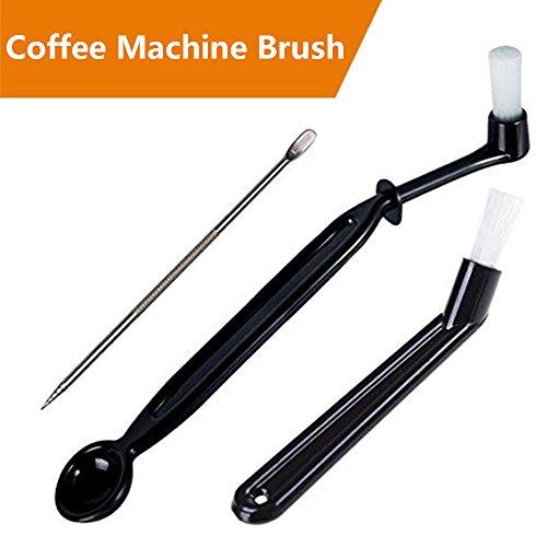 bagtu Kaffee Reinigungsbürste Werkzeug-Set für Espresso Maschine Gruppe Kopf, Schwarz, 3Stück