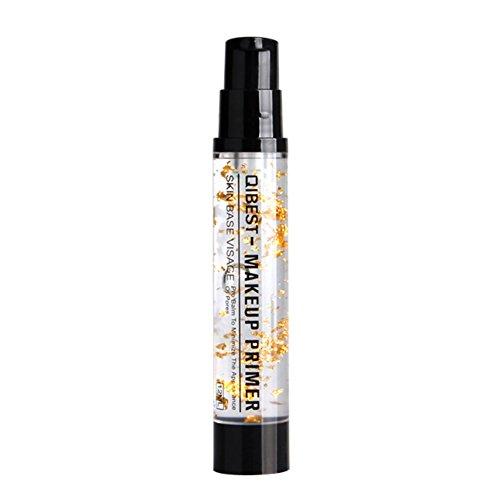 Allbesta 24k Gold Elixir Ultra Feuchtigkeits Primer Make-up Base Gesicht Essential Oil Anti-aging für ein langanhaltendes Make-up und einen ebenmäßigen Teint, transparent, 12 ml (Foundation Make-up Clean Liquid)