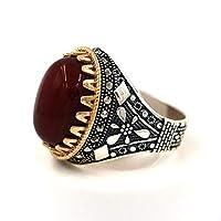 خاتم فضه رجالي صياغة تركية بحجر عقيق  ، 2189