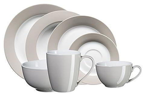Domestic by Mäser, Serie Kitchen Time, Kombiservice 42-teilig, für 6 Personen, in der Farbe Grau