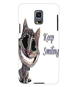 ColourCraft Funny Cat Design Back Case Cover for SAMSUNG GALAXY S5 MINI