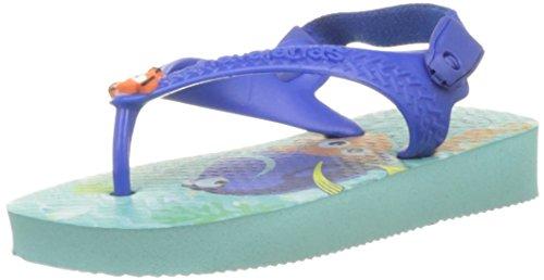 Havaianas Kinder Flip Flops Baby Disney Cuties Grösse 21 EU (19 Brazilian) Ice Blau Zehentrenner für Kinder