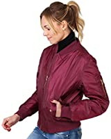 KRISP® Womens Classic Padded Zip Up Bomber Jacket Waist Coat Ruched Sleeve Winter Warm Size 8 10 12 14