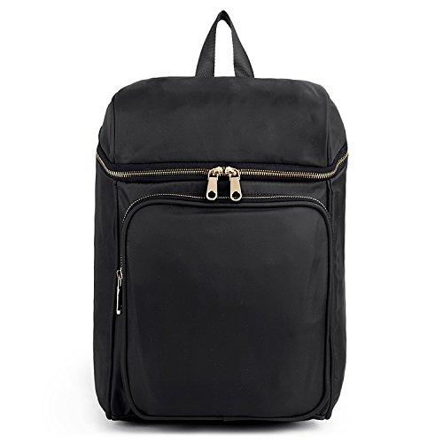 Uto Fashion Backpack Oxford Impermeabile Abbigliamento Nylon Textured Backpack School College Book Borsa A Tracolla Nero Nero