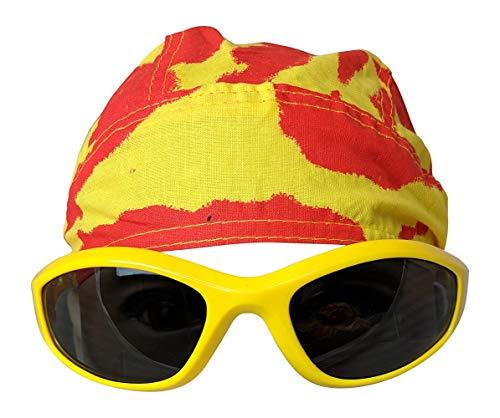 Unbekannt Kostüm Sonnenbrille Kopftuch Hulk Hogan Tie Dye Gelb