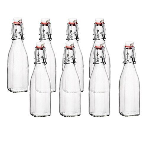 Bormioli Rocco Glas Swing Top Flasche-8Unze Set of 8