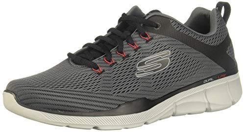 Skechers Equalizer 3.0, Sneaker Uomo, Grigio (Charcoal Black Ccbk), 45 EU