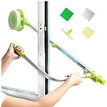 Limpiador de ventanas en forma de U para limpiaparabrisas externo con barra telescópica, cabezal de