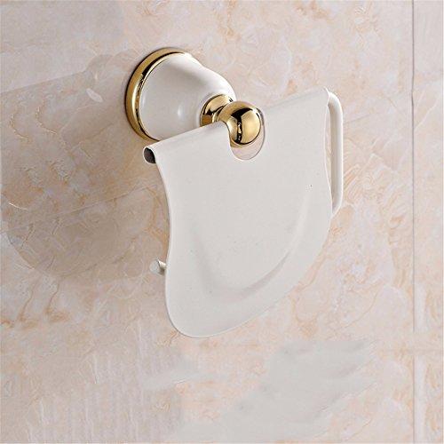 D&D-Bathroom Accessories Badaccessoires Sets/European Copper weiße Farbe Gold kreative Aufhänger badezimmerhalterung Handtuch backen Rack, WC-Papier Rack (Papier-handtuch-aufhänger)
