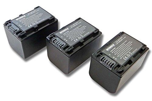 INTENSILO 3X Li-Ion batería 1640mAh (7.2V) para cámara de Video, videocámara Sony HDR-CX110E, HDR-CX115E, HDR-CX116E por NP-FV70, NP-FV90