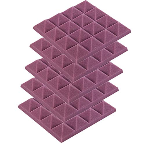 Floweworld 5StüCk Noppenschaumstoff (Ca. 25Cmx25Xmx5Cm) Akustik Schaumstoff Akustikschaumstoff DäMmung KTV SchalldäMmend