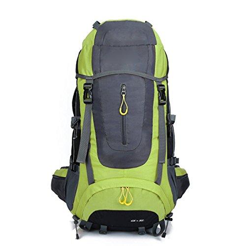 Rucksack Rucksack Wandern Outdoor Bergsteigen Reisen Lässige Daypack Hochleistungs-Tasche,Orange Green