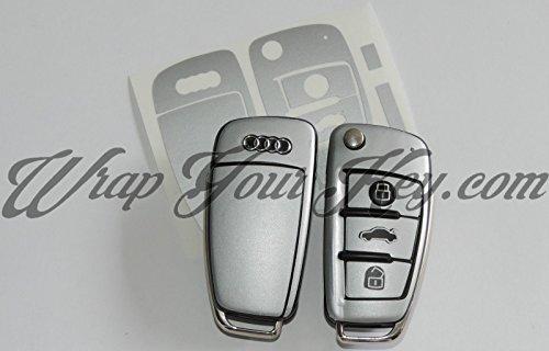 Argento opaco, Cover Chiave Telecomando Pelle Audi A1, A3, A4, A5, A6, A8TT Q3Q5Q7