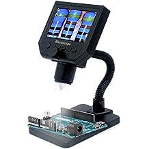 Microscopio digital LCD portátil KKmoon G600 con alto brillo 8 LED y batería de litio incorporada