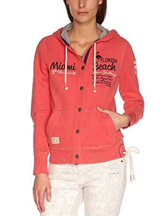 TOM TAILOR Polo Team Damen Bluse 25150010073/hooded sweatjacket, Gr. 36 (S), Pink (5352 candy cane pink)