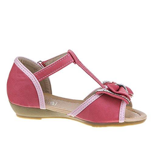 Chaussures pour enfants, 081–7, sandales Rouge - Coral (25-30)