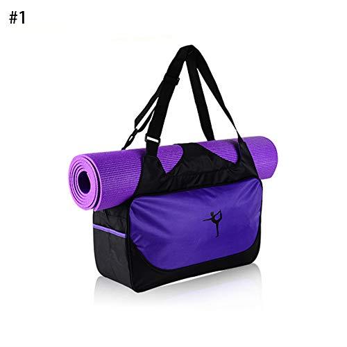 Longzhuo Multifunktionale Yoga Tasche Rucksack Wasserdichte Sport Sporttasche Fitness Duffle Bag (lila)