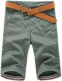CHIYEEE Pantalones Cortos de Carga para Hombres de Verano Pantalones Cortos Casuales Cortos de Multi Bolsillos Pantalones al Aire… JkVd24OF