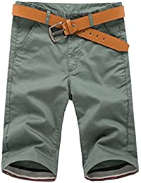 CHIYEEE Pantalones Cortos de Carga para Hombres de Verano Pantalones Cortos Casuales Cortos de Multi Bolsillos Pantalones al Aire…