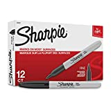 Sharpie marqueurs permanents, point fin, noir, 12 compteurs