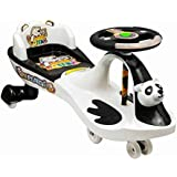 Goyal's Free Wheel Musical Panda Magic Car with Back Rest, Suitable for Age 2 - 6 Years - (Black & White)