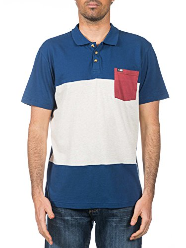Rip Curl Herren Poloshirt, Gestreift Birch Heather