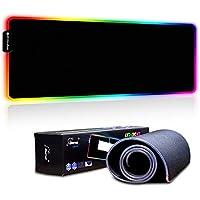 Alfombrilla de Ratón RGB Extra Grande, Ordenador Extended XL Alfombrilla Gaming de Microfibras con Luces, Base de Goma Antideslizante para Gamers, PC y Portátil - 780 x 300 x 4 mm
