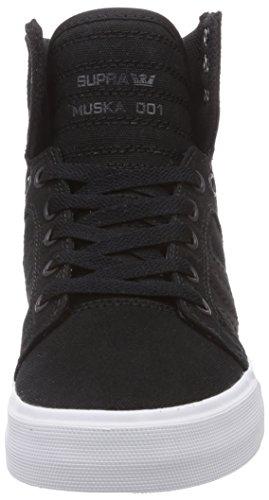 Supra Skytop D, Sneakers Hautes mixte adulte Noir (BLACK - WHITE BLK)