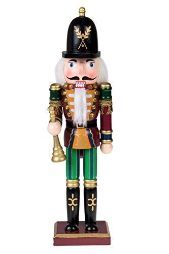 Clever Creations - Traditioneller Nussknacker-Soldat mit Horn - Sammlerstück - Festliche Weihnachtsdeko - 100{05aa3722072c3ae318a3fab7d8eee754e2763e5f67fefeed1880c96a3e2a3c3c} Holz - 30,5 cm