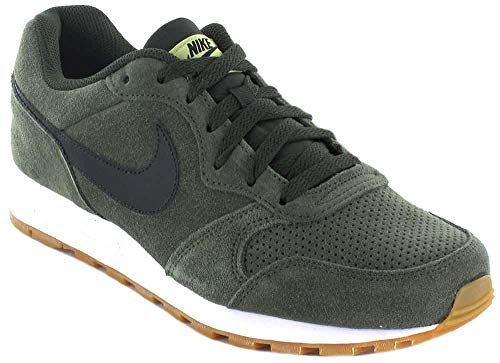 Nike Herren Md Runner 2 Suede Leichtathletik-Schuh, Multicolor (Sequoia/Black/Lawn/Gum Light Brown 300), 45 EU