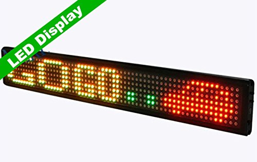 GOWE One Line Indoor RGY LED Programmable Scrolling Message Display Sign 3''*21'' by Gowe? - Scrolling-display