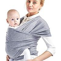 Phiraggit Fular Portabebé,Manta para Lactancia Un Tamaño para Todos - Elastico Porta bebé Wrap para Madre y Padre- Porteo Seguro y Ergonómico, portabebés para recién nacidos hasta 20 kg