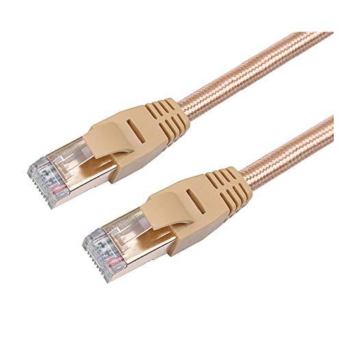 Colorful RJ45 Netzwerkkabel Patchkabel mit CAT 7,Geflecht RJ45 CAT7 Netzwerk LAN Ethernet SSTP 10 Gbps Schnelles Gigabit-Patchkabel (0.3m)