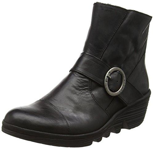FLY London Damen Pais655fly Kurzschaft Stiefel, Schwarz (Black 000), 42 EU Warehouse Deals Schuhe Frauen