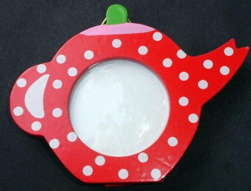 Gisela Graham Tee Pot Mini Foto Rahmen Rot Polka Dot