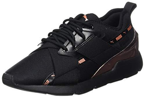 Puma Muse X-2 Metallic Wn's, Sneaker Donna, Black/Rose Gold 01, 39 EU