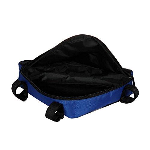 BXT Fahrrad Radtasche Triangle Bag Utensilientasche Satteltasche Fahrradrahmentasche Stativtasche Professional Mountainbike Triangle Tasche im Freien, 23*5*19cm Blau