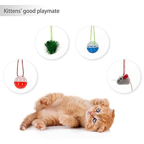 Tofern Katzenbett Katzenzelt Katzenkissen Tierbett Katzenspielzeug faltbar waschbar, Rot - 3