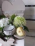 Tischgesteck mit Herz Tischdeko Frühling Deko Gesteck Sommer Landhaus Teelicht - 2