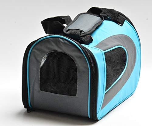 Hunde Tasche Tragetasche türkis grau Transporttasche BOX Gr. XL 59x29,5x29,5 cm