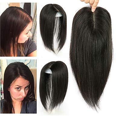 Laflare Gancio toupet Estensioni dei capelli umani Liscio Cappelli veri Estensore Extension di capelli umani Pezzo di capelli Brasiliano 1 pezzo Disegni alla moda Soffice Migliore qualità Per donna