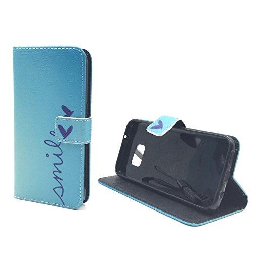 König-Shop Handy Tasche für Apple iPhone 6 / 6s Flip Cover Case Schutz Hülle Etui Motiv Wallet, Farbe:Don't touch my Phone Bär Smile