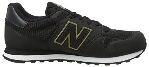 New Balance Damen GW500 Sneaker, Schwarz (Black/gold/GW500KGK)