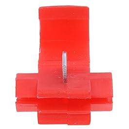 SODIAL (R) 50pcs Splice veloce Connettori Blocco Terminali Wire Crimp elettrico – Rosso