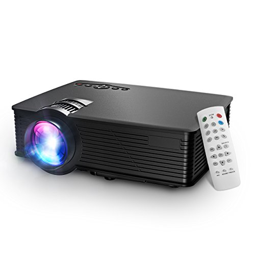 LCD Beamer Projektor, Mpow LCD Projector 1200 Lumen LED Mini Beamer Projektor Home Cinema Tragbare Multimedia Heimkino mit USB SD HDMI VGA für Video Game Movie Hinterhof-Kino