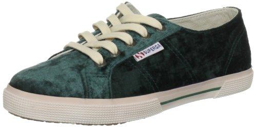 Superga 2950 Velvu, Unisex - Erwachsene Schnürhalbschuhe Grün (Green Pine)